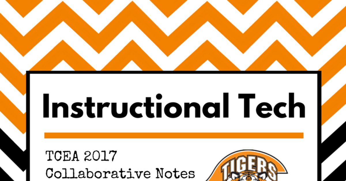 Thumbnail for CISD TCEA Collaborative Notes 2017