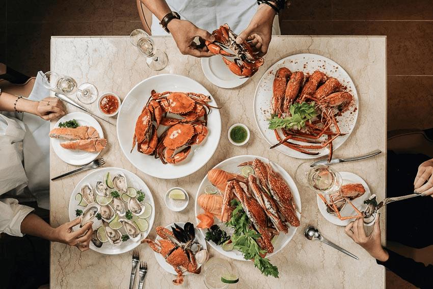 Quầy buffet hải sản cao cấp ngon tuyệt tại Market 39