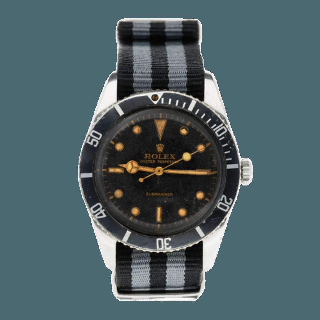 Vintage Rolex Submariner with a NATO strap