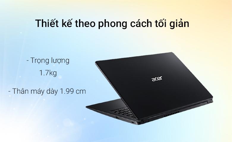 Laptop ACER Aspire 3 A315-56-502X (NX.HS5SV.00F) | Thiết kế phong cách tối giản