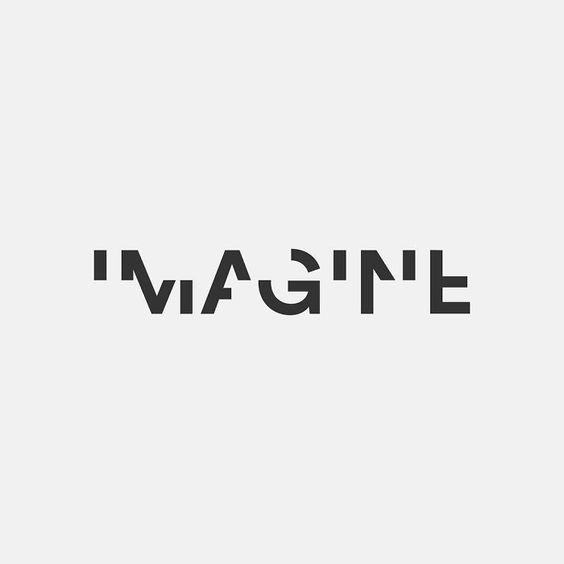 Tipografia geometria representada por logotipo