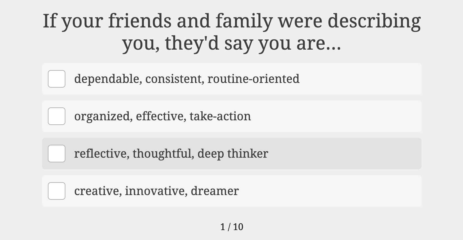how would your friends describe you quiz question with answers