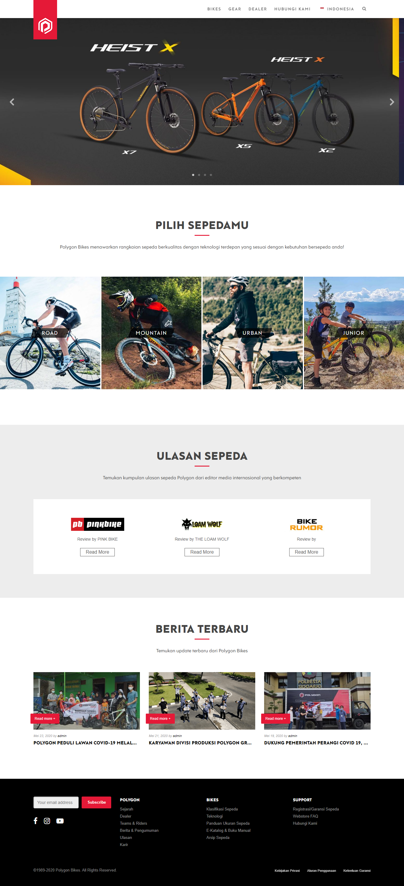 jasa pembuatan website toko sepeda Tonjoo