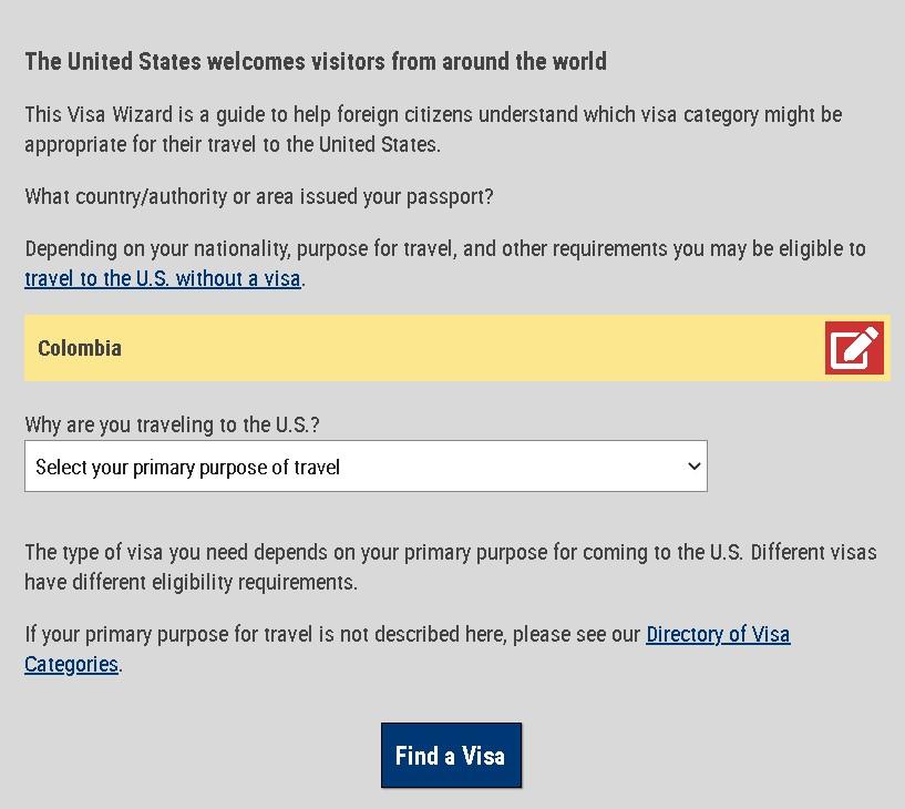 Como saber que tipo de visa es la que debo gestionar