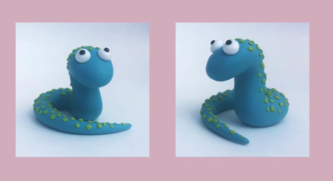 modeling clay snake