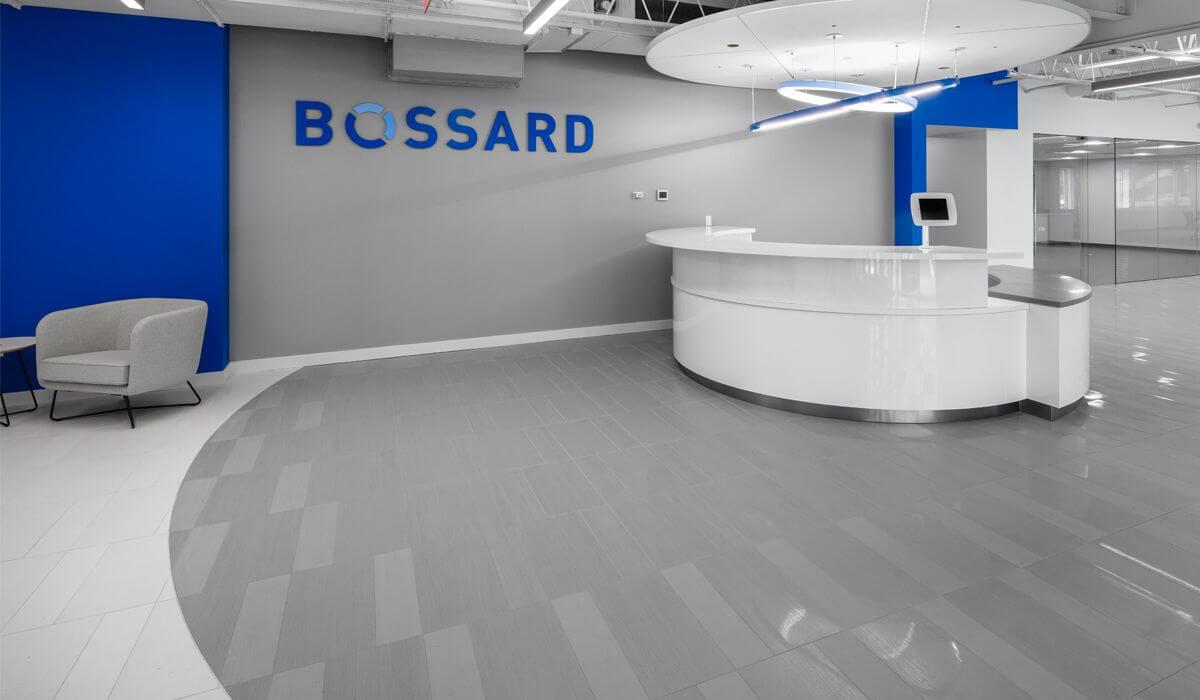 Ceramic tile in the Bossard Group customer showroom