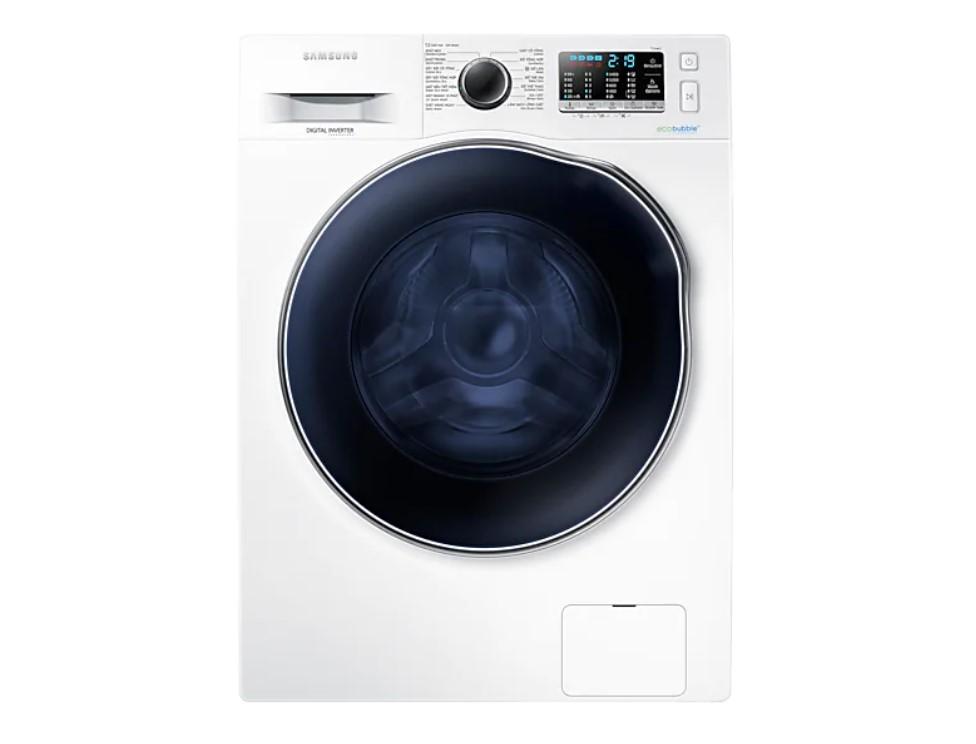 Máy giặt sấy Samsung 9.5 Kg WD95J5410AW vận hành êm, tự động làm sạch lồng giặt khi cần