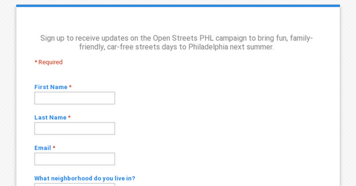 Open Streets PHL
