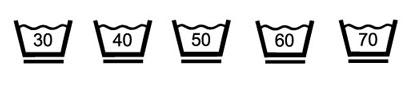 Wassymbool voor antikreuk wasjes