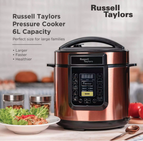 Russell Taylors 6L electric multi cooker. Source Russell Taylors