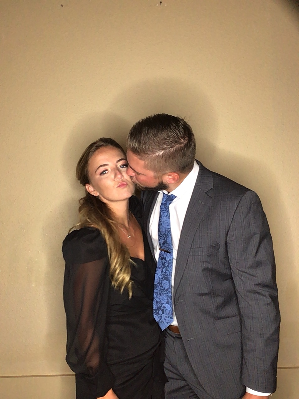 Photo Booth Pose - Kiss on the cheek