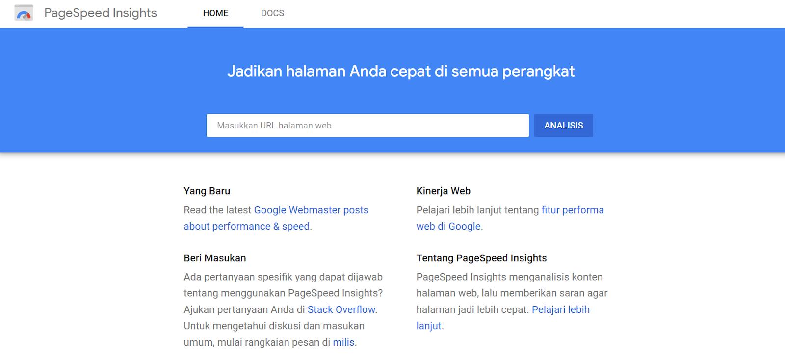 Cara Mengoptimalkan Website Kamu dengan Google PageSpeed Insight