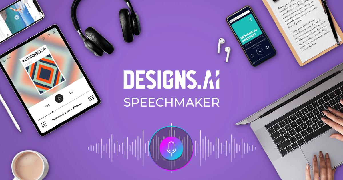 Un outil de synthèse vocale Designs.ai Speechmaker.