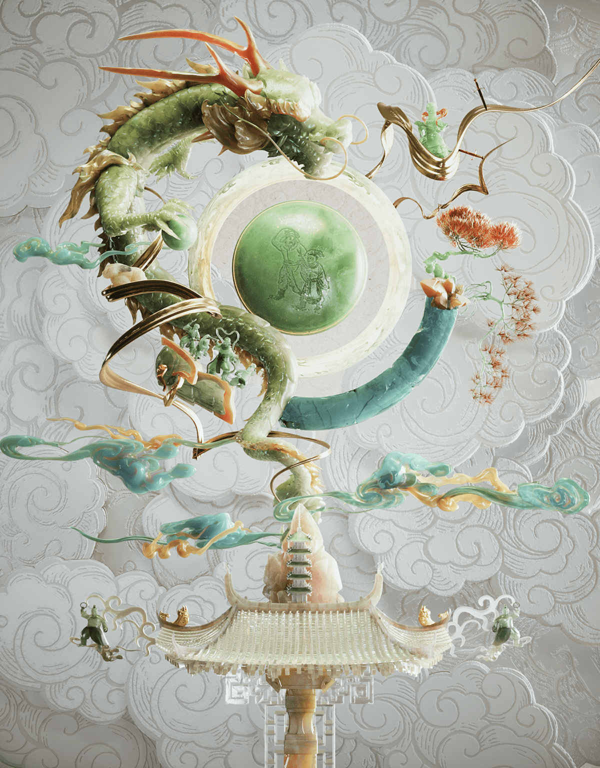 book chinese cinema4d dragon east jade styleframe taiwan