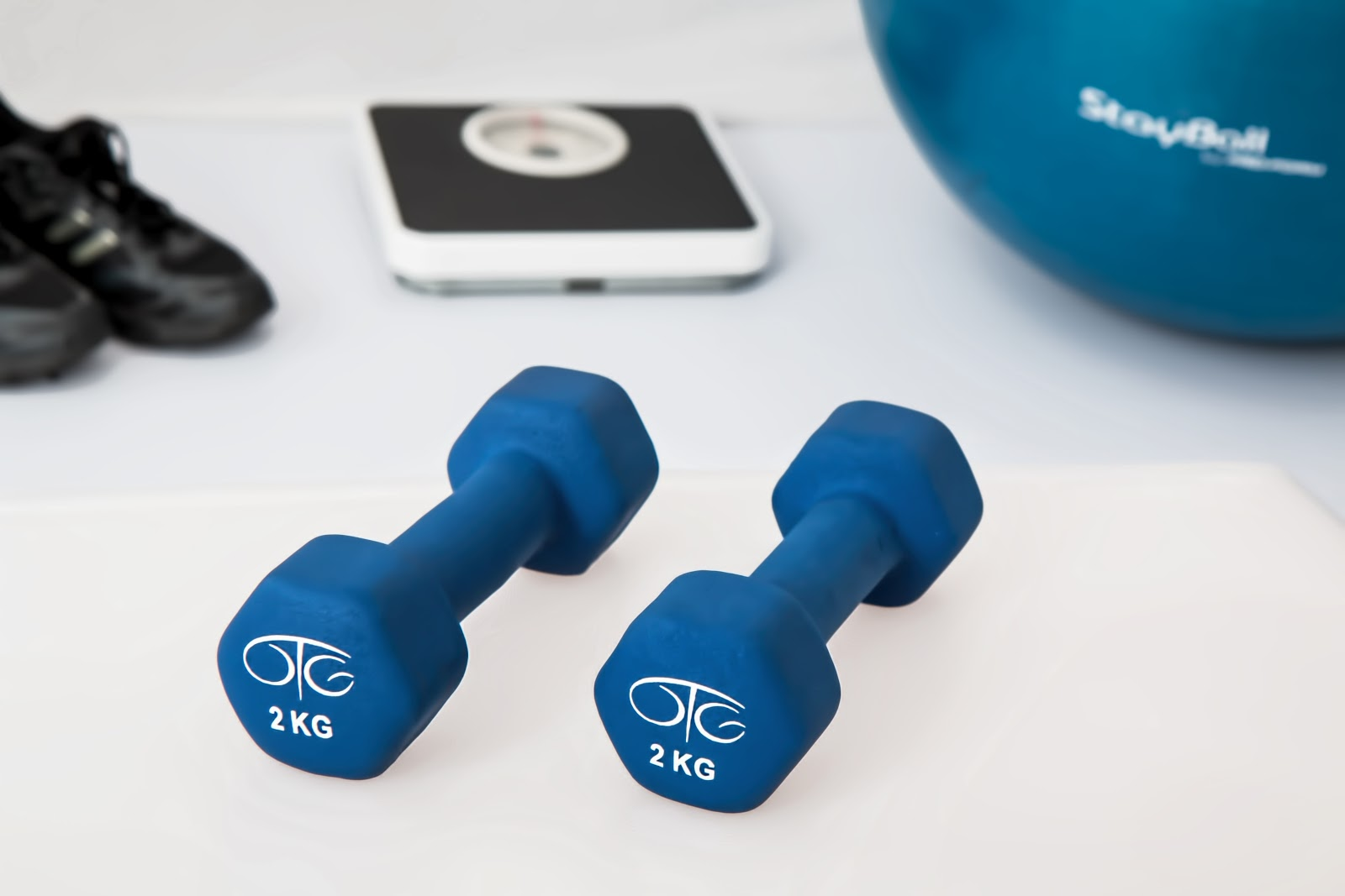 Exercise equipment ready for workout