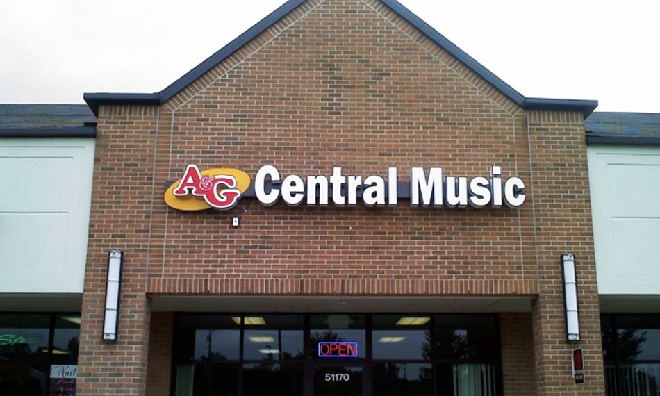 A&G Central Music LED Channel Letters