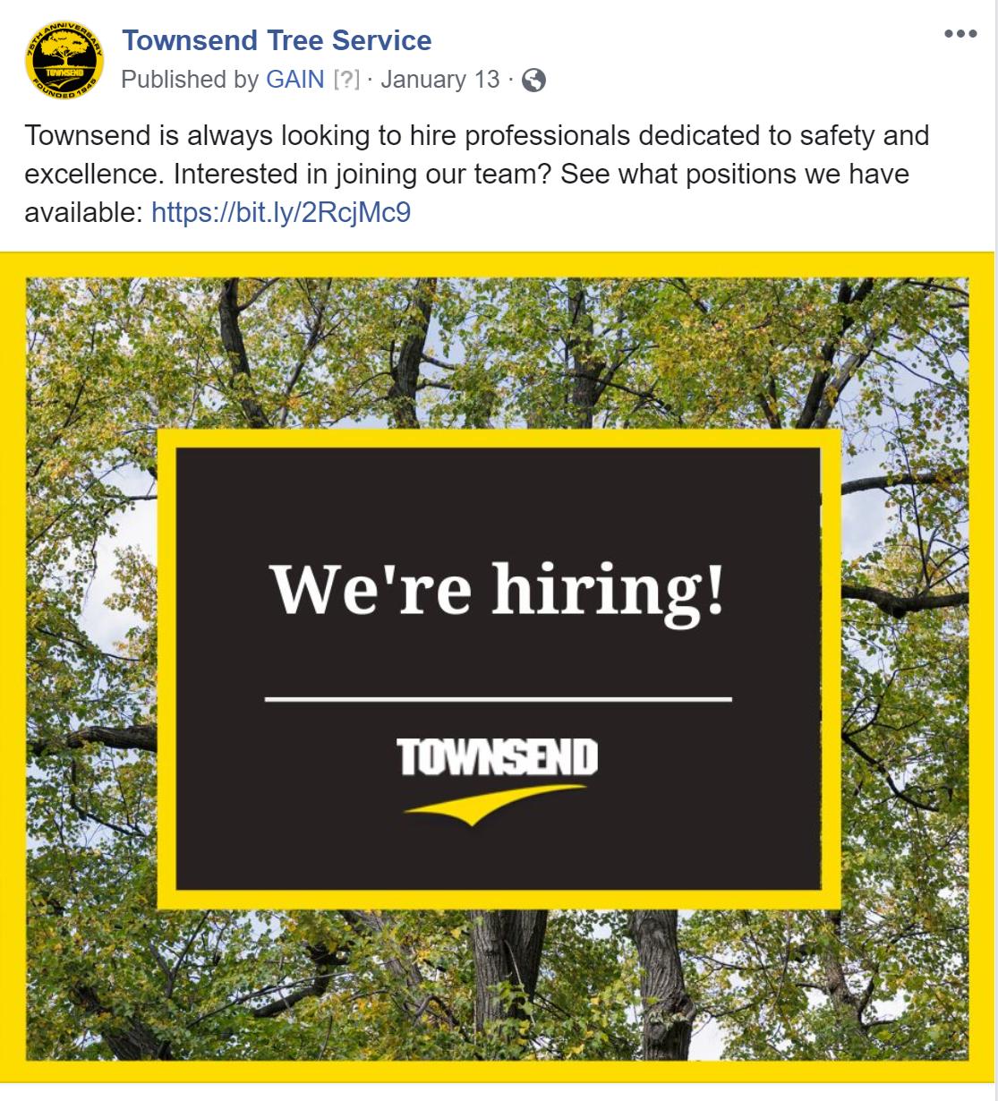facebook hiring post