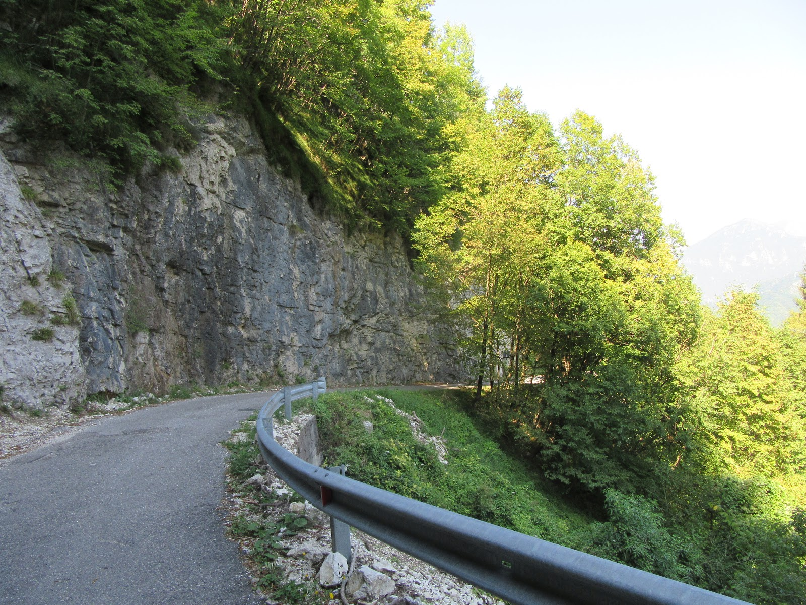 Bike climb Monte Grappa from Seren - narrow unnamed road