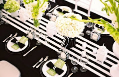 stripe black white wedding