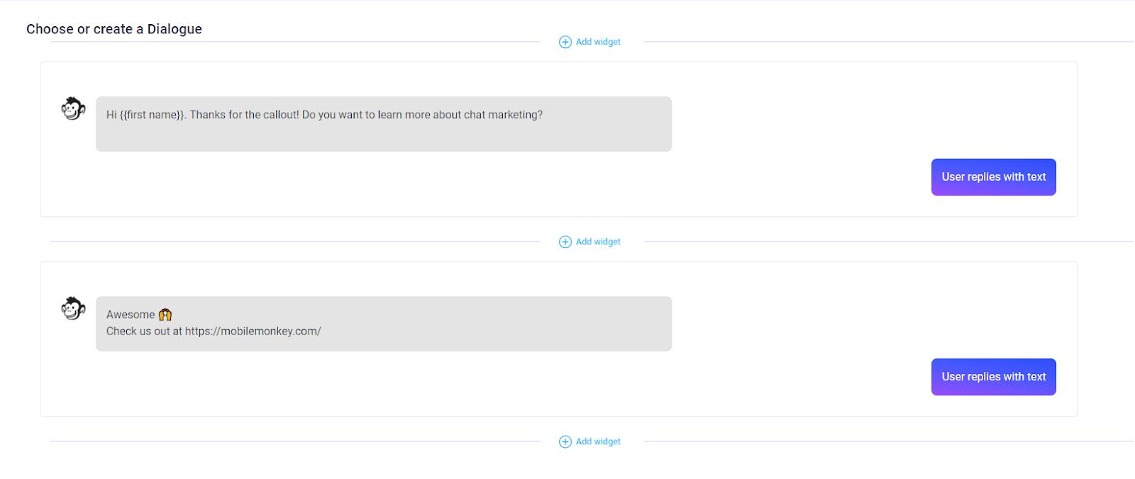 MobileMonkey chatbot builder