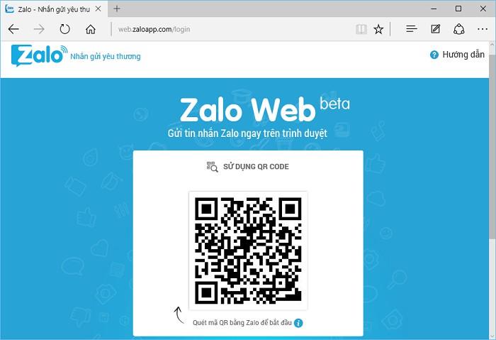 Cách đăng nhập zalo web bằng cách quét mã QR