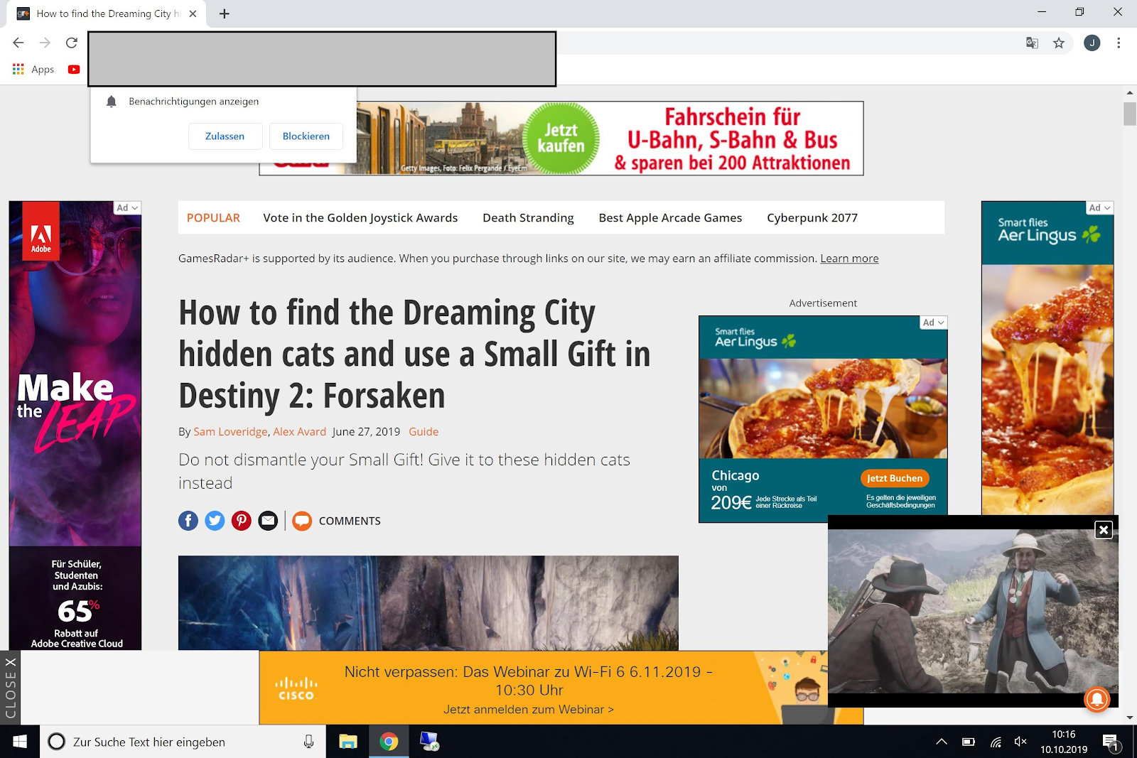 website without ad-block
