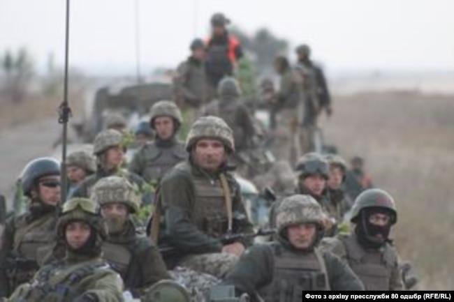 Військовослужбовці 80-ої ОДШБр