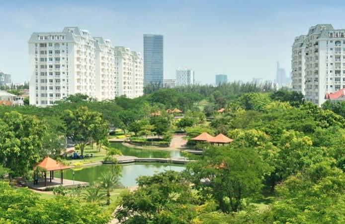 Dự án được bao bọc bởi công viên Hương Tràm
