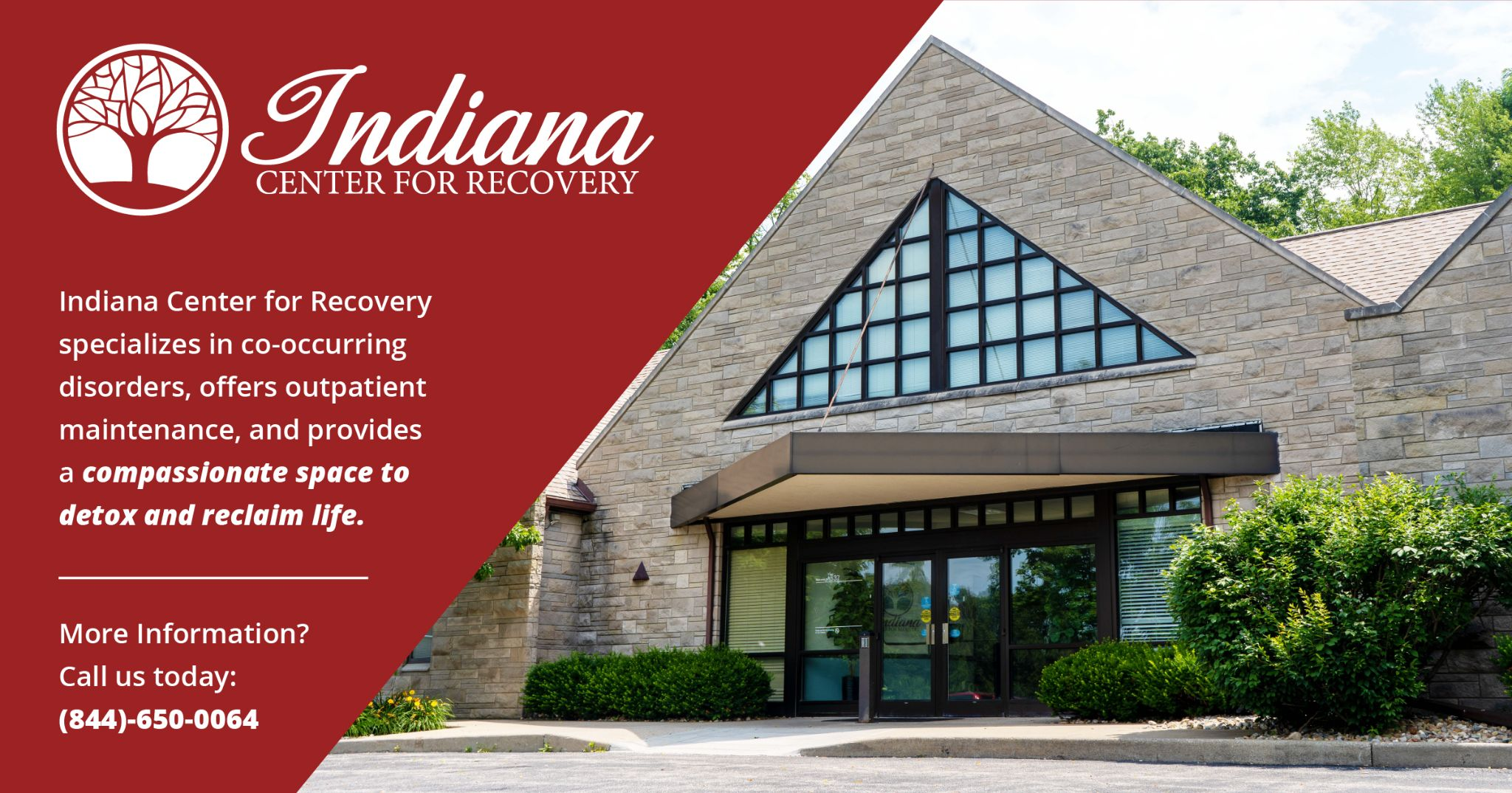 Indiana center for recovery specializes in co-occuring disorders, offers outpatient maintenance, and provides a compassionate space to detox and reclaim life.