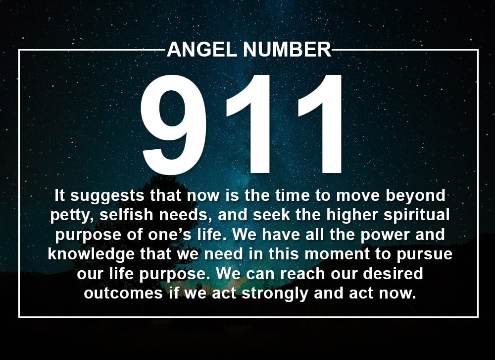 The significance of the 911 angel number