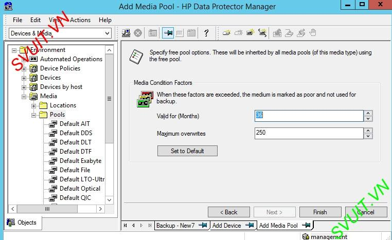 HP Data protector backup D2D HP StoreOne (5)