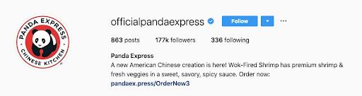 official panda express twitter profile