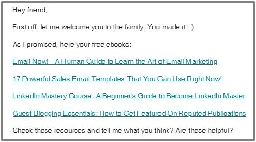 welcome email prepawan