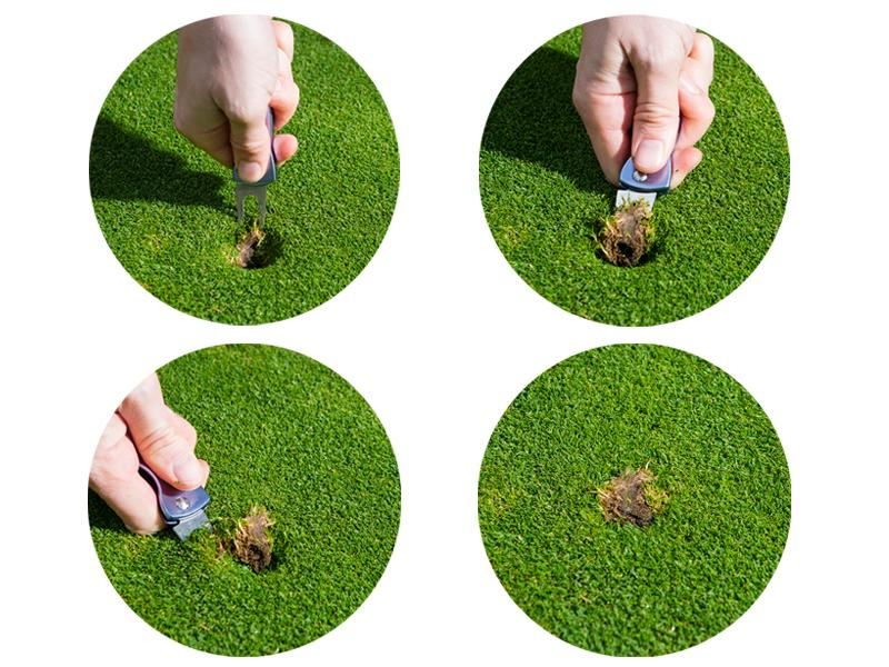 repair a pitch mark