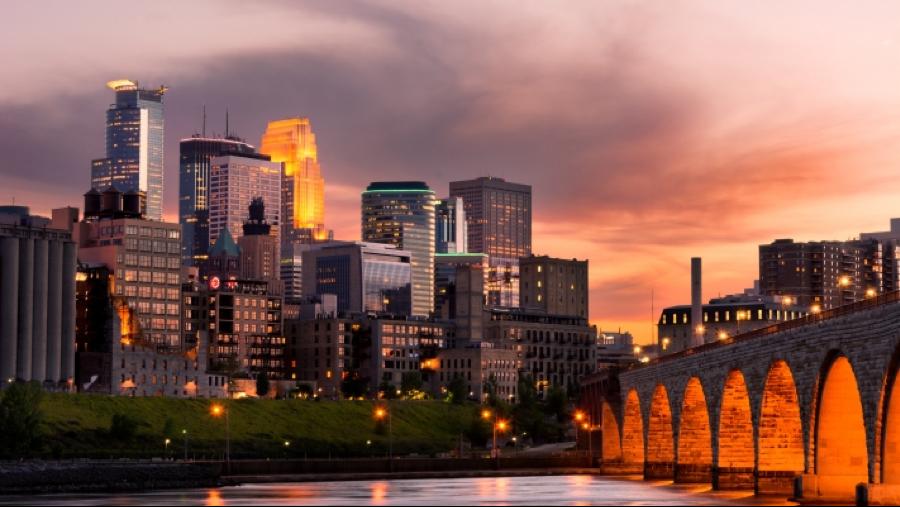 View of Minneapolis Skyline