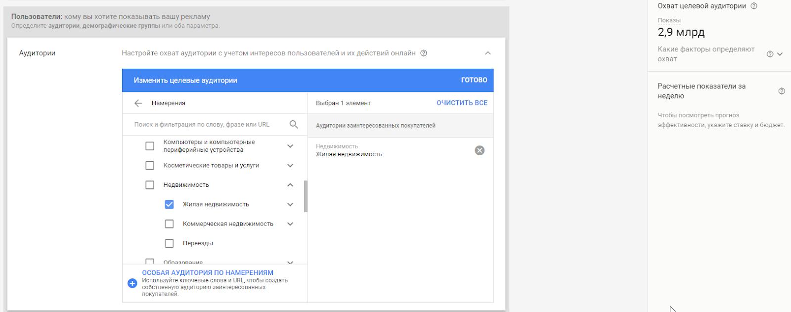 Аудитории в КМС Google AdWords