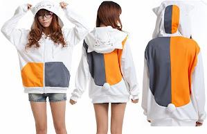 hitam, putih, nyanko sensei, fleece, Hoodie, hoodie korea murah, korea, murah, warna, Pre Order, fashion korea, hoodie lucu