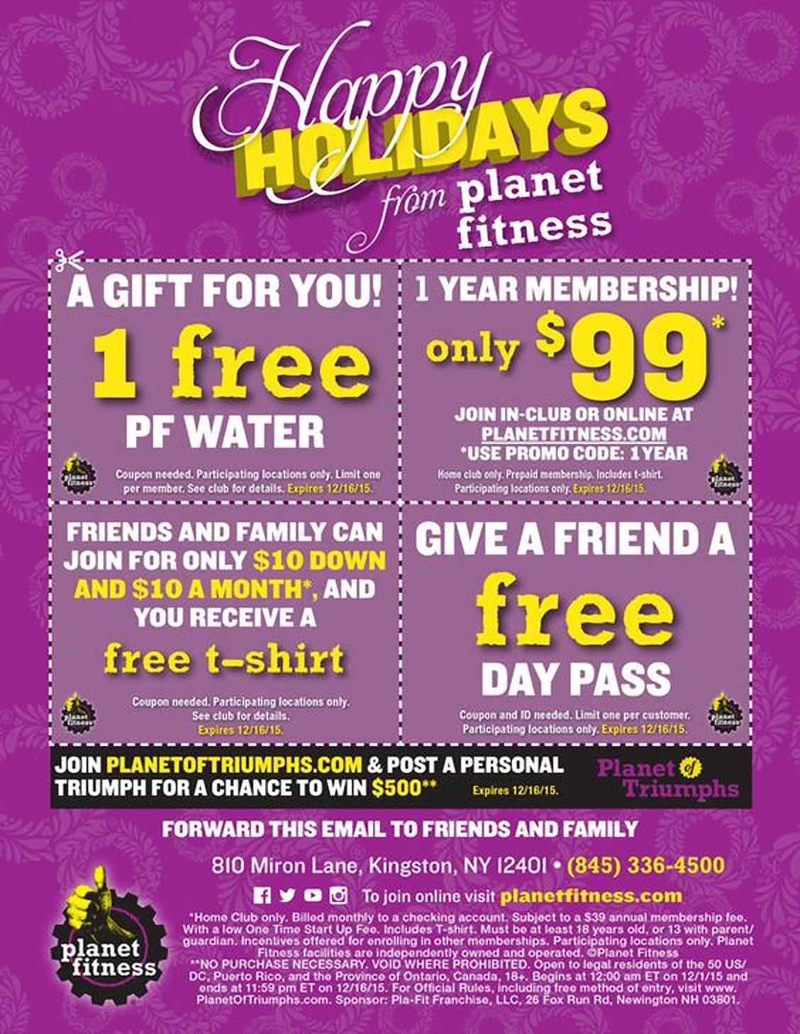 example from Planet Fitness, they offer a variety of different member exclusives for the holiday season.
