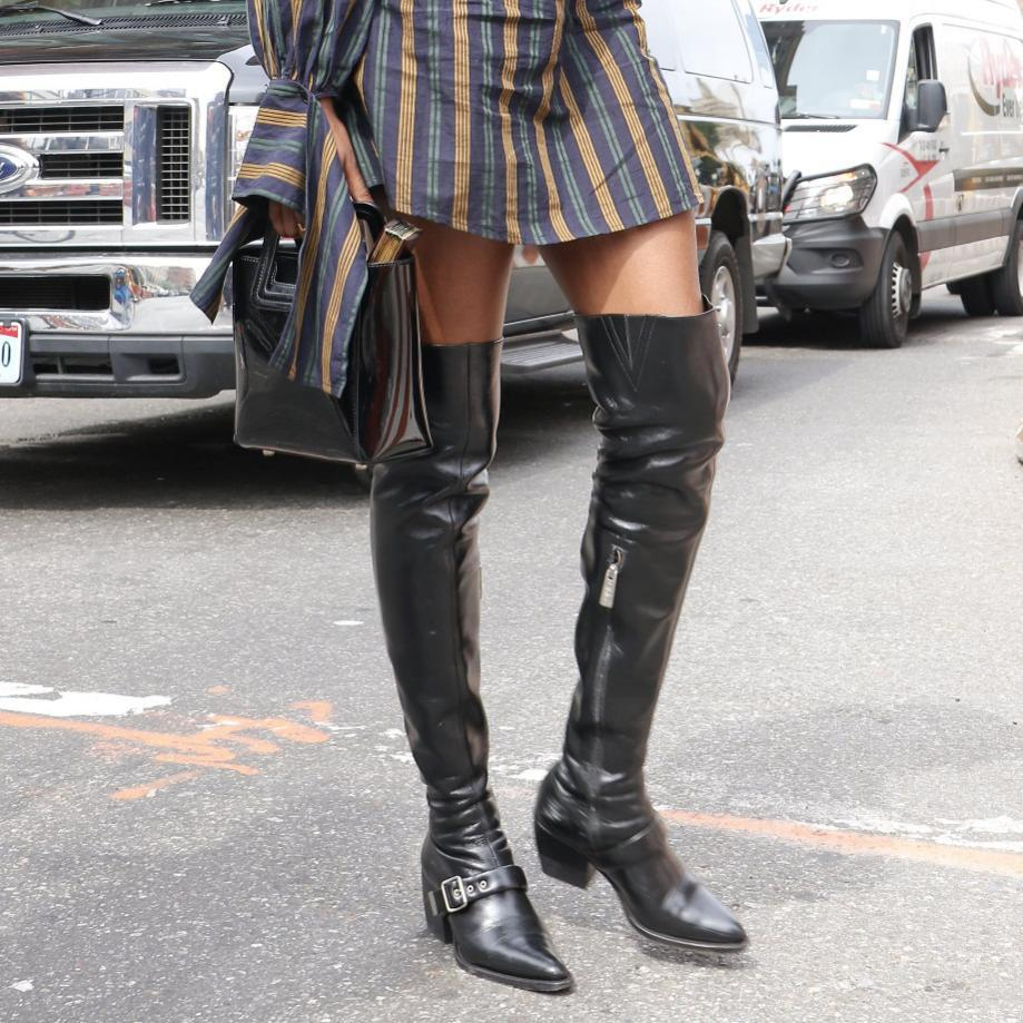 How to Wear Over-the-Knee Boots | POPSUGAR Fashion