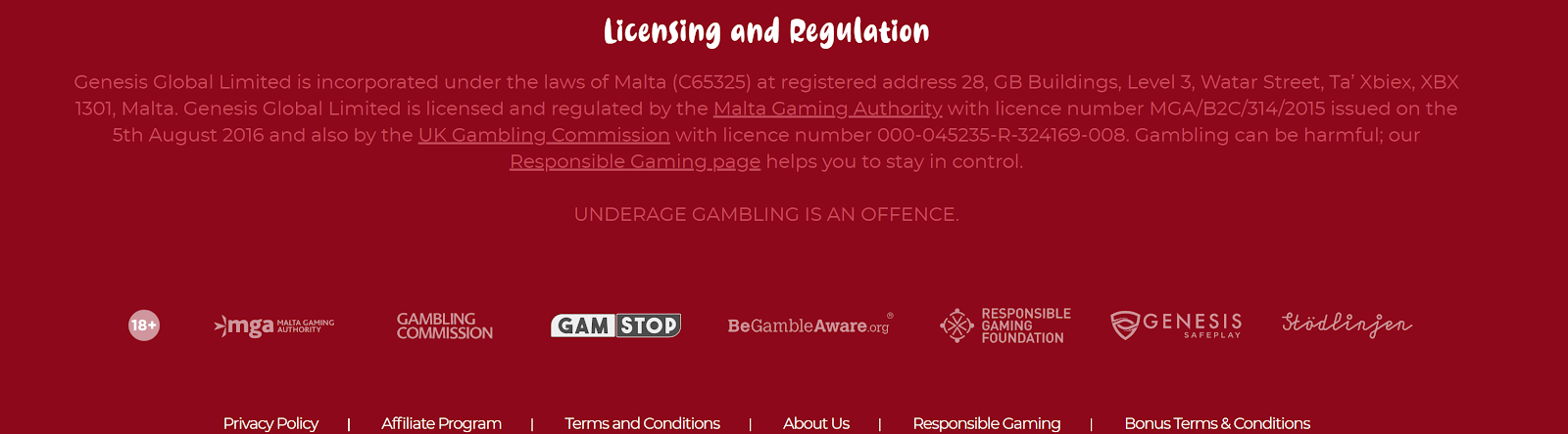 Casoola Casino is regulated by the UK Gambling Commission