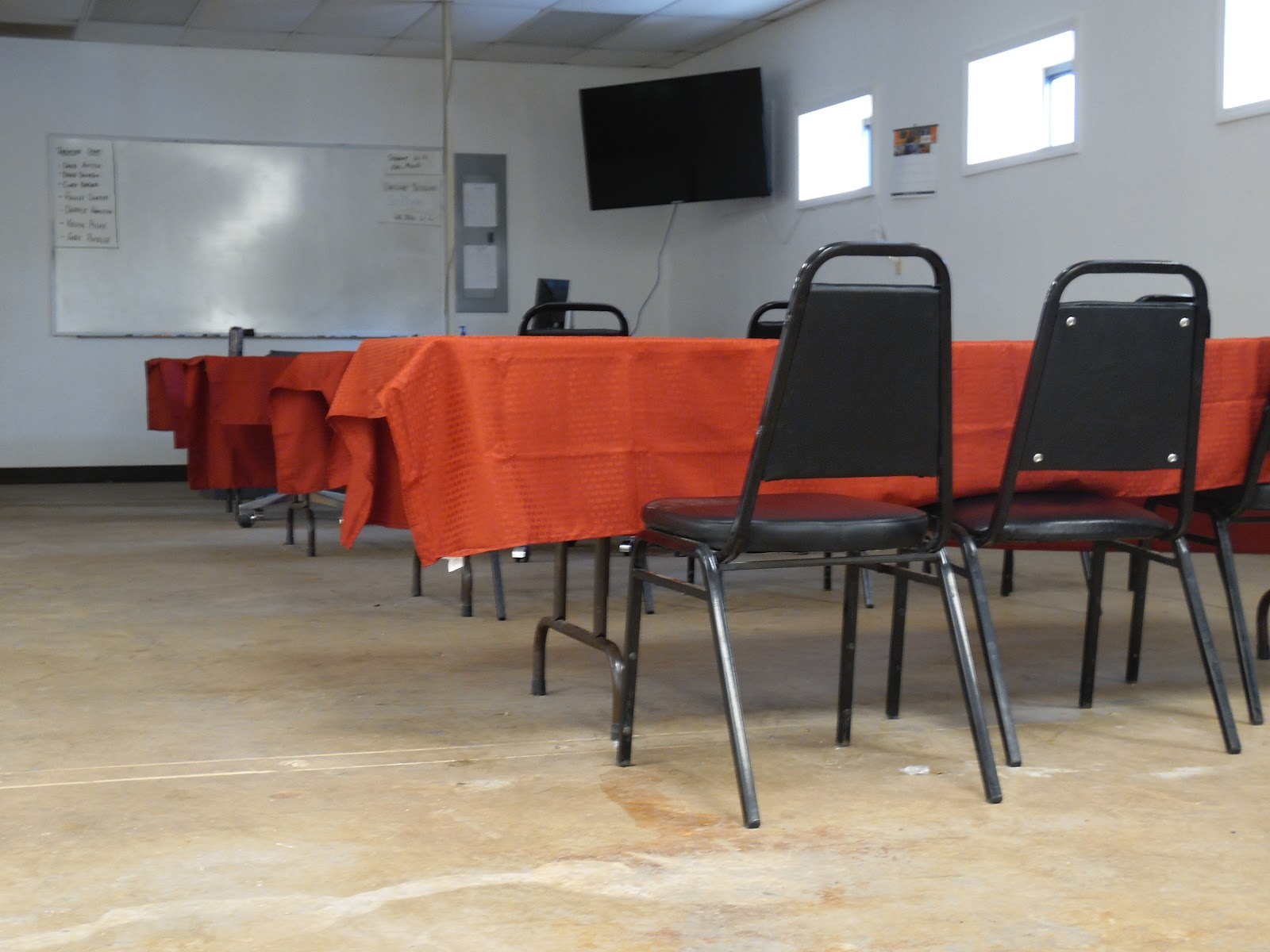 Classroom at CDL University's truck driving school in Oklahoma.