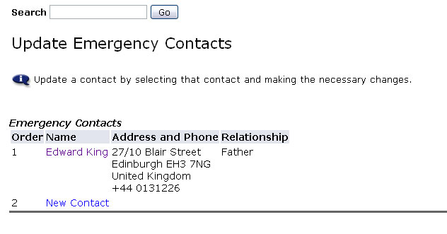 Emergency Contacts Done