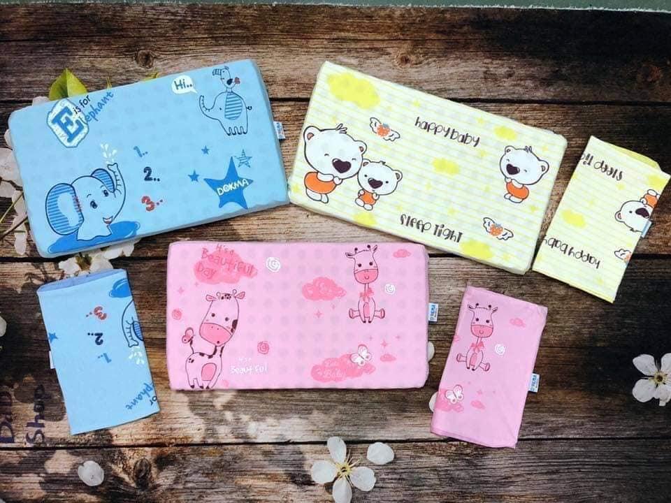 Gối cao su Dokma tặng 01 vỏ gối - Cửa hàng Mẹ và Bé