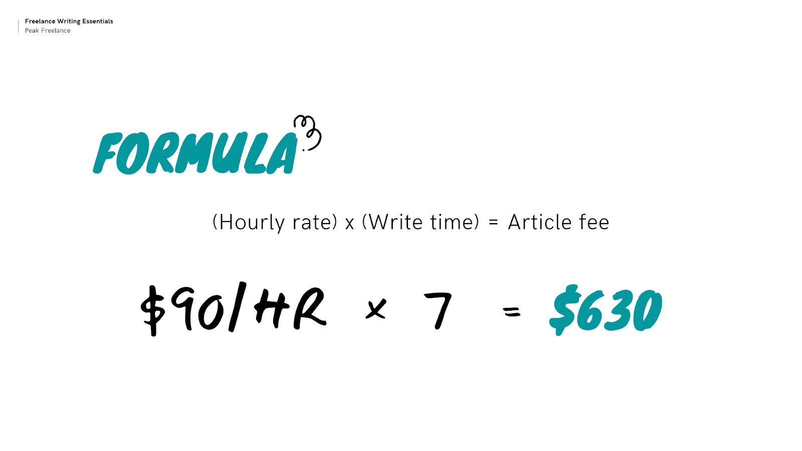 how to calculate freelance blogging rates