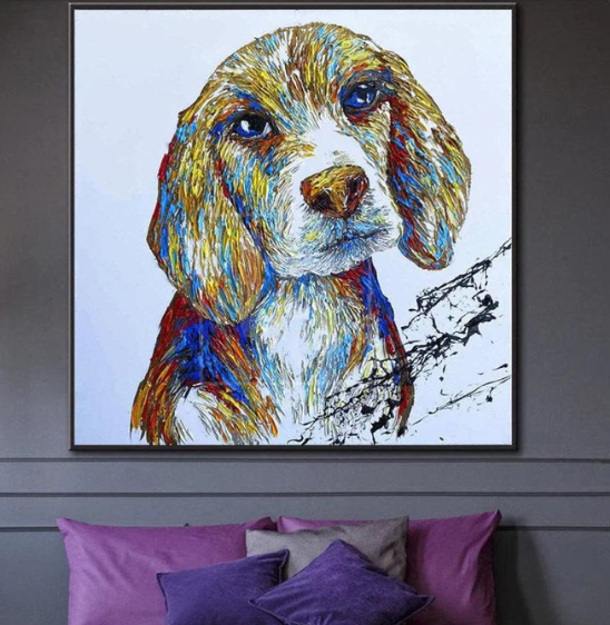Large Animal Abstract Painting