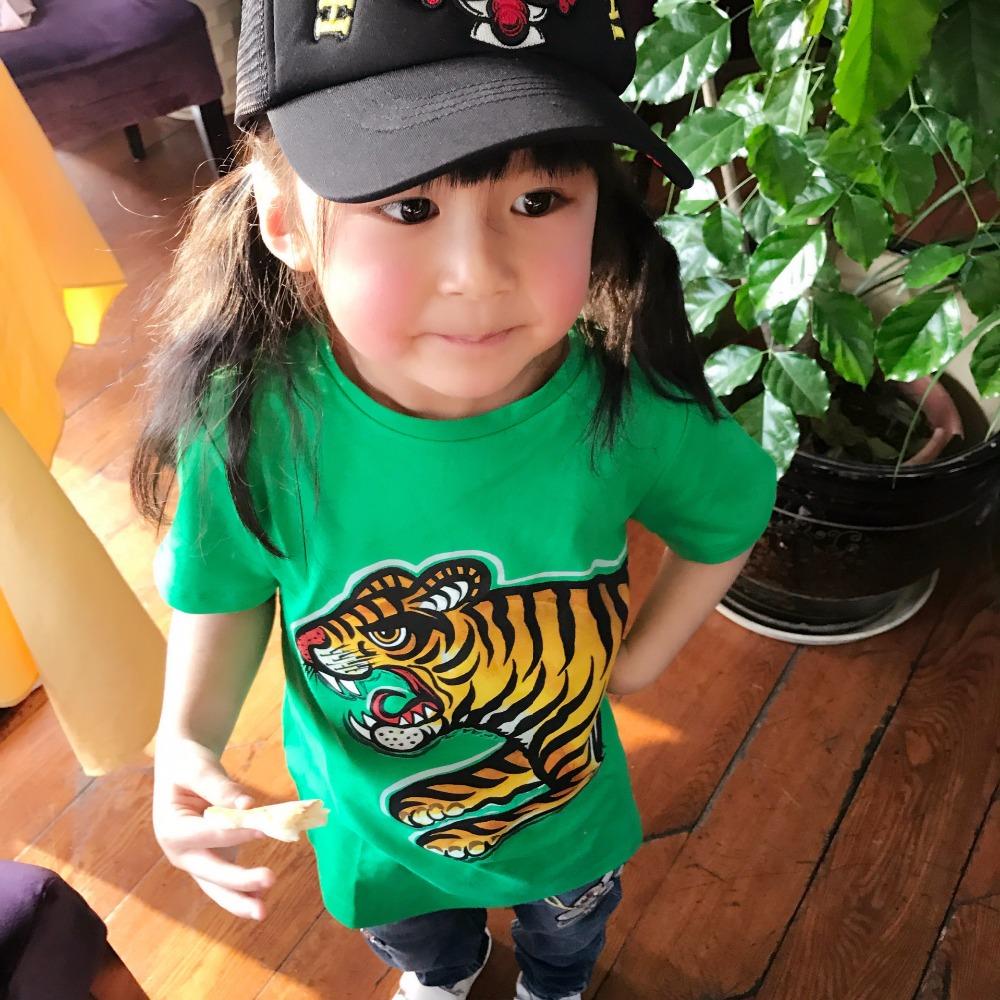 T-shirt zielony dla dzieci
