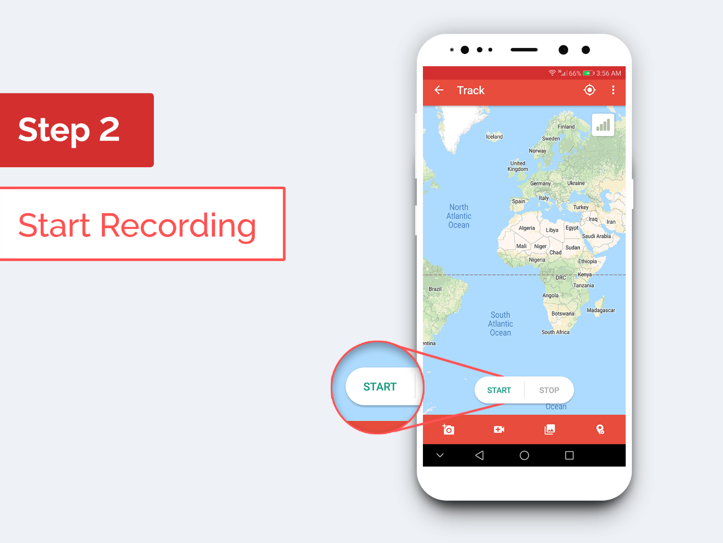 Traverous - Step 2: Start Recording