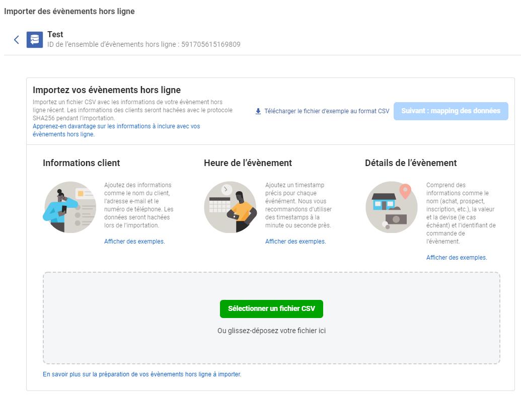Suivi performances Drive to store Facebook Ads grâce aux événements de conversion hors ligne