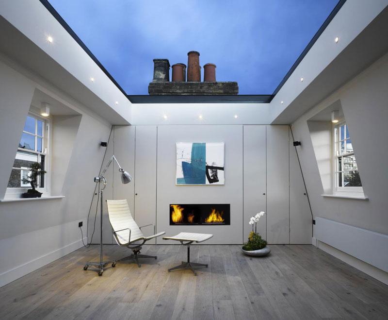 Dosis arquitectura techo de vidrio de una casa nica en londres - Techos de cristal para casas ...