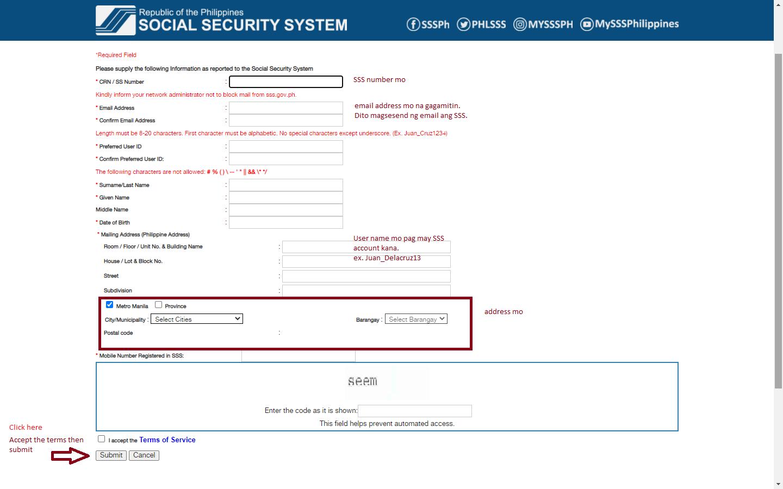 Social Security Account